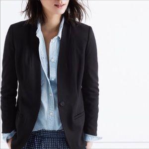 Madewell Black Tribune Blazer Size 6